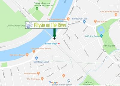 Physio on the River location
